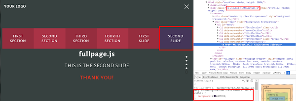 Vertical and Horizontal Scrolling With fullPage js