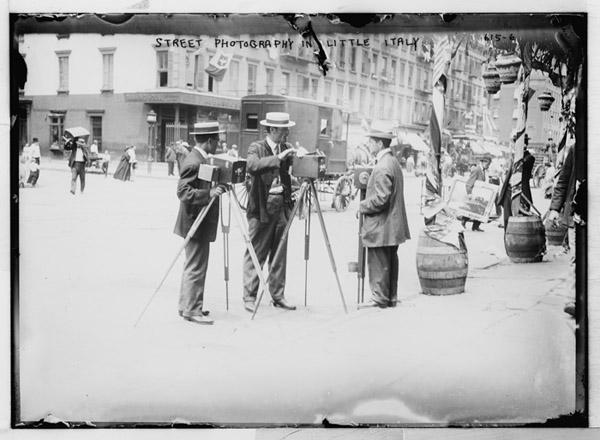 Street photographers in Little Italy New York City