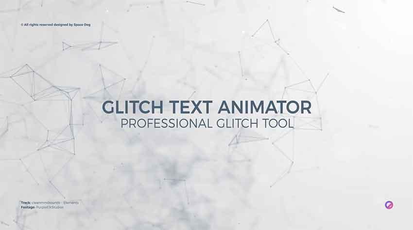 Glitch tect animator tool for Premiere Pro