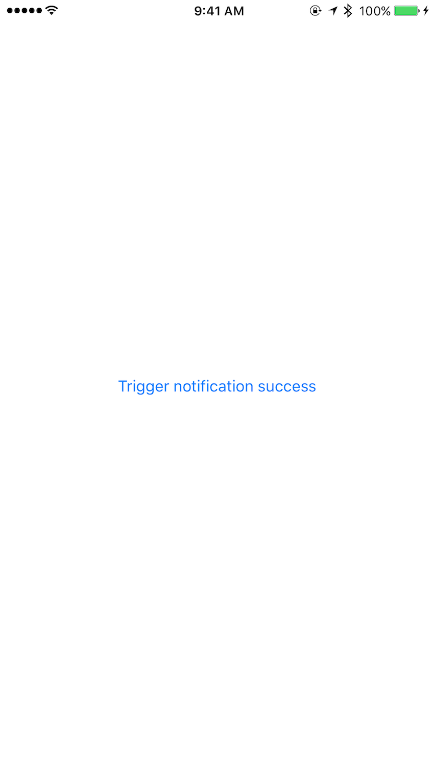 Trigger notification success message