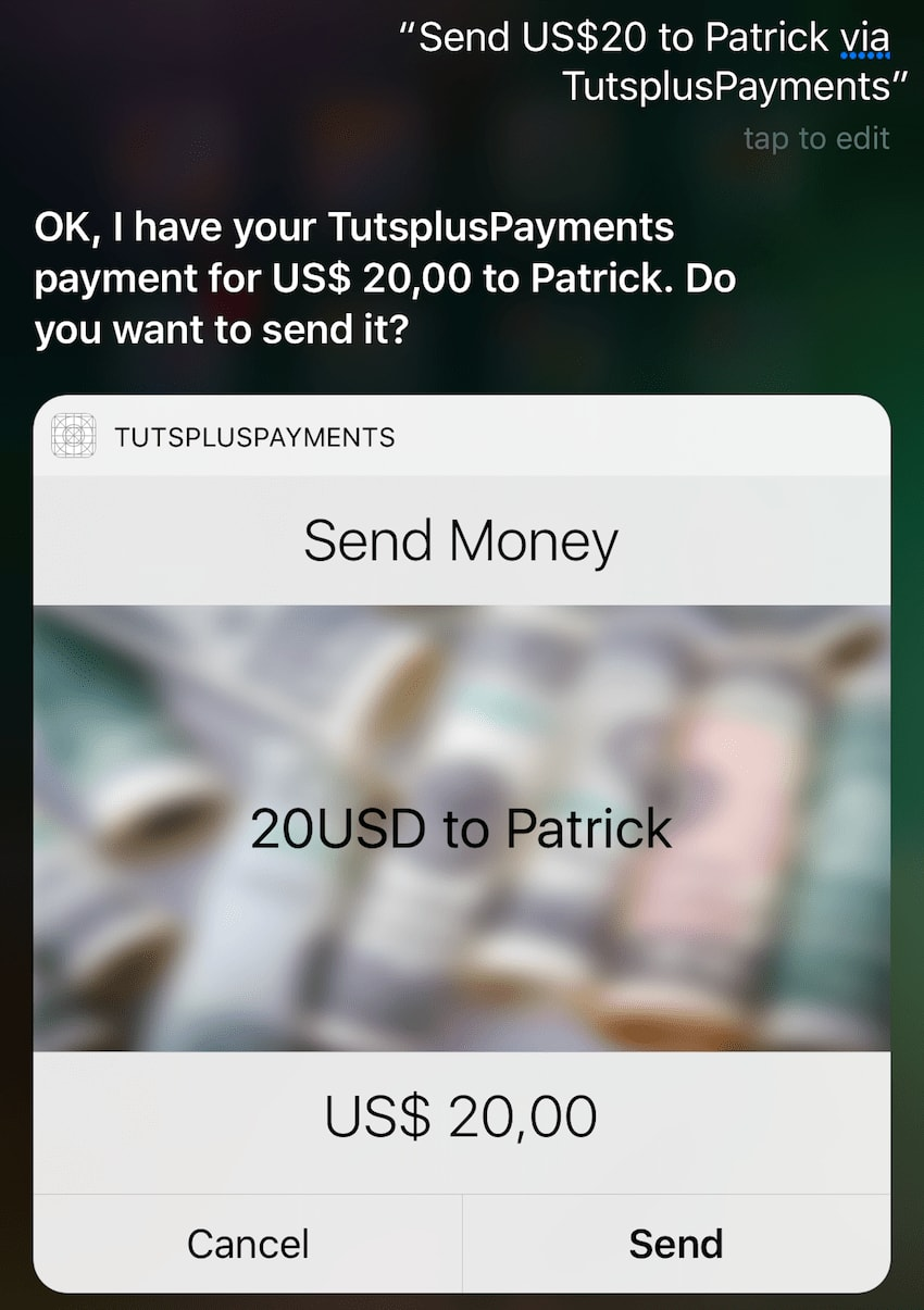 New custom UI in Siri extension