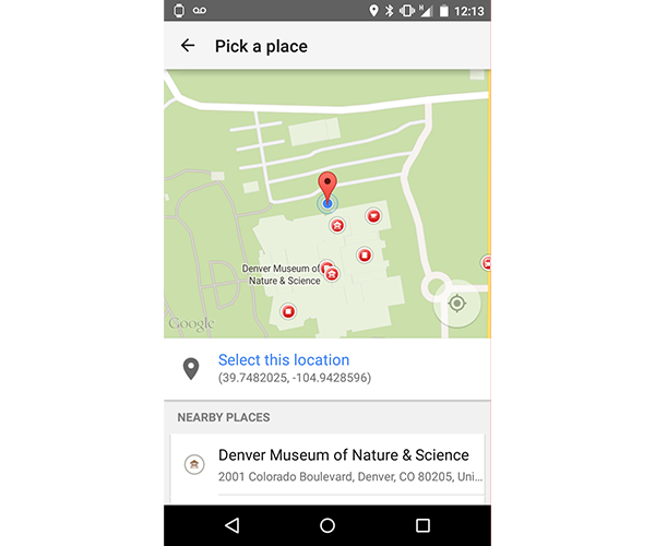 Place Picker Widget