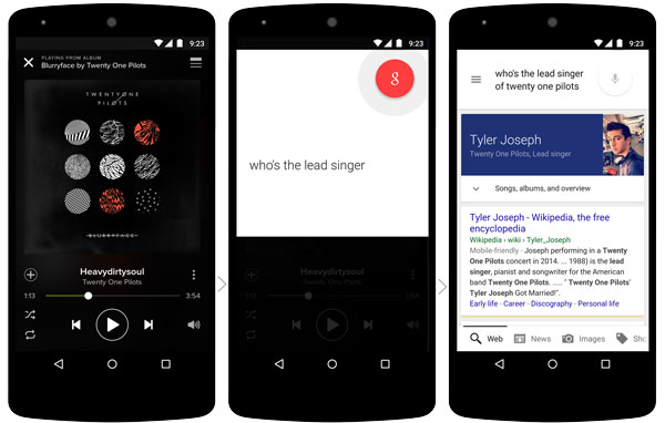 Contextually Aware Google Now in App