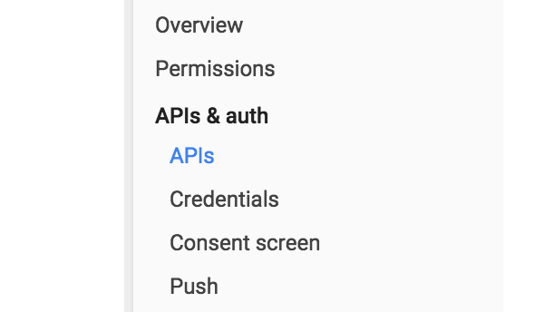 APIs  Auth location in nav