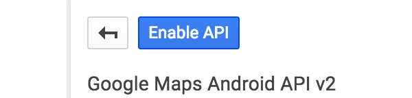 Enable API button
