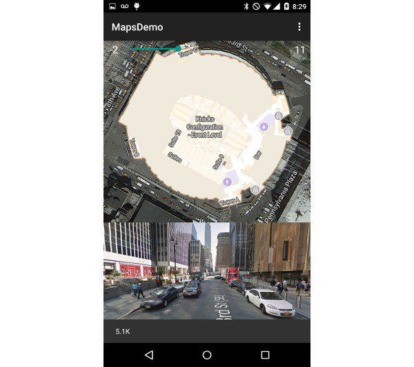 Street View on Madison Square Garden