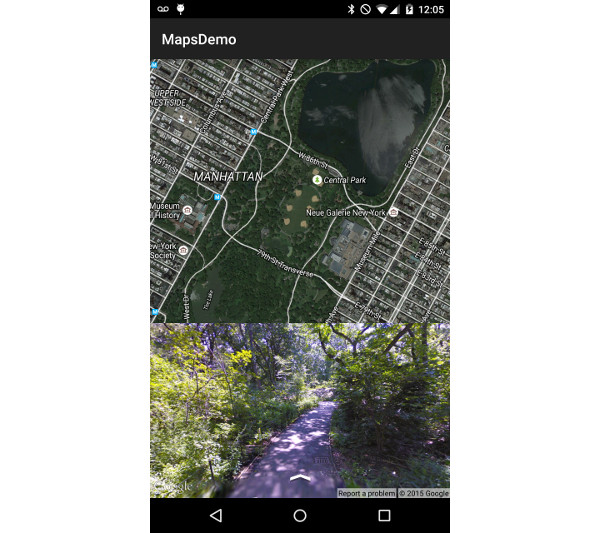 Street View location changed by onMapLongClickLatLng latLng
