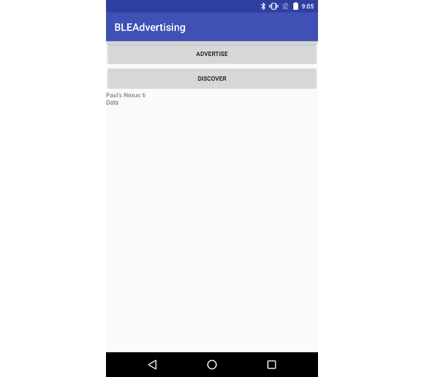 Nexus 5X discovering Bluetooth LE advertisement packets from a Nexus 6