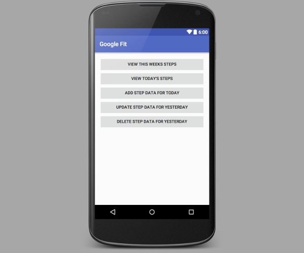 Google Fit for Android: History API