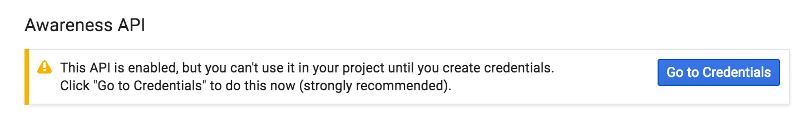 Google API Console Go to Credentials button location