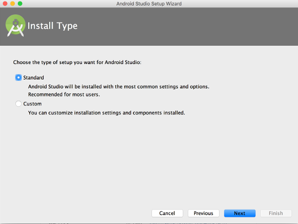 Android Studio Install Type