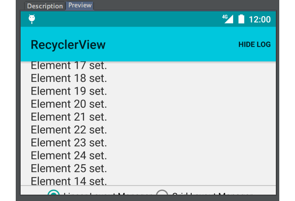 Android Studio Sample Preview