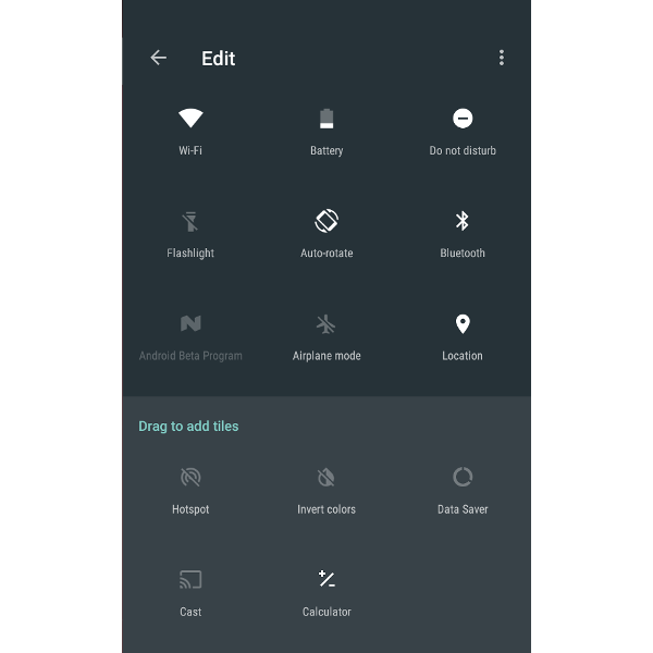 Quick Settings Editing In Android N