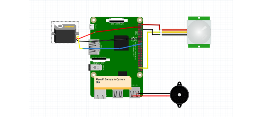 Schematics for a simple customized smart doorbell