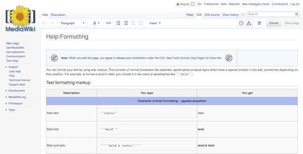 Wiki Formatting