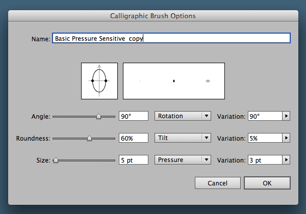 Duplicate brush settings