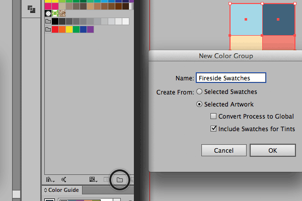 How to create a new Color Group in Adobe Illustrator