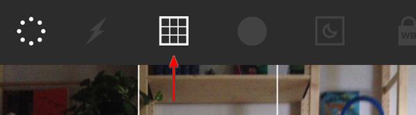 VSCO Cams grid overlay option