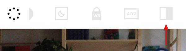 VSCO Cams menu contrast option