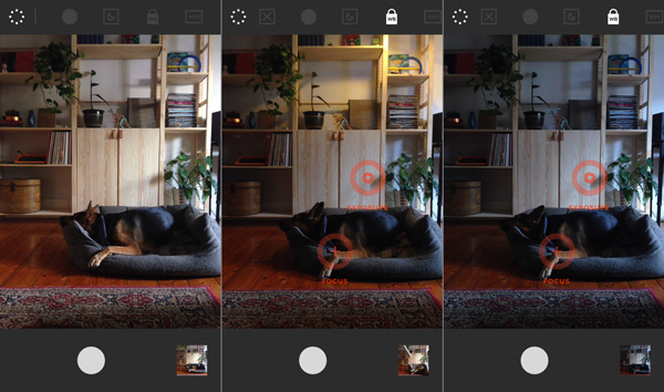 VSCO Cams white balance lock feature in action