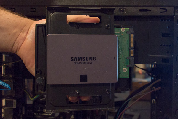 Hard drives installed