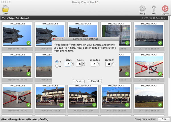 edit tracklog geotag