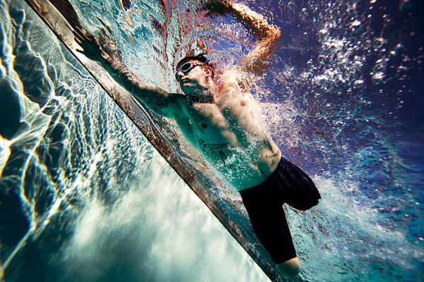 swimmer below