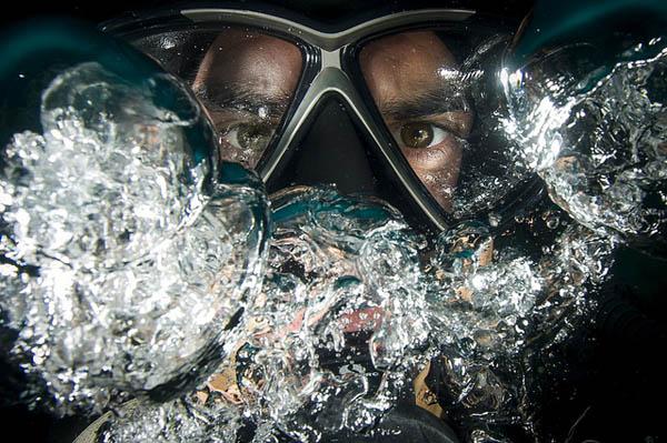 diver portrait