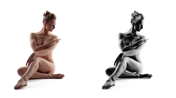art nude solarised