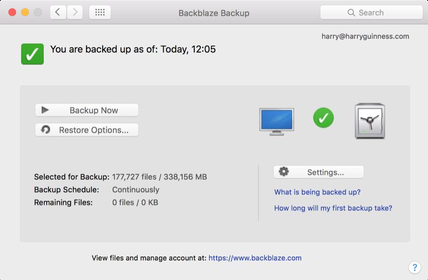 backblaze online
