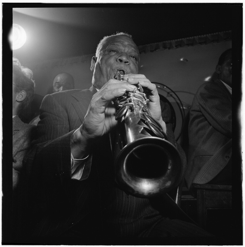 Sidney Bechet Freddie Moore Lloyd Phillips and Bob Wilber Jimmy Ryans Club New York NY ca June 1947