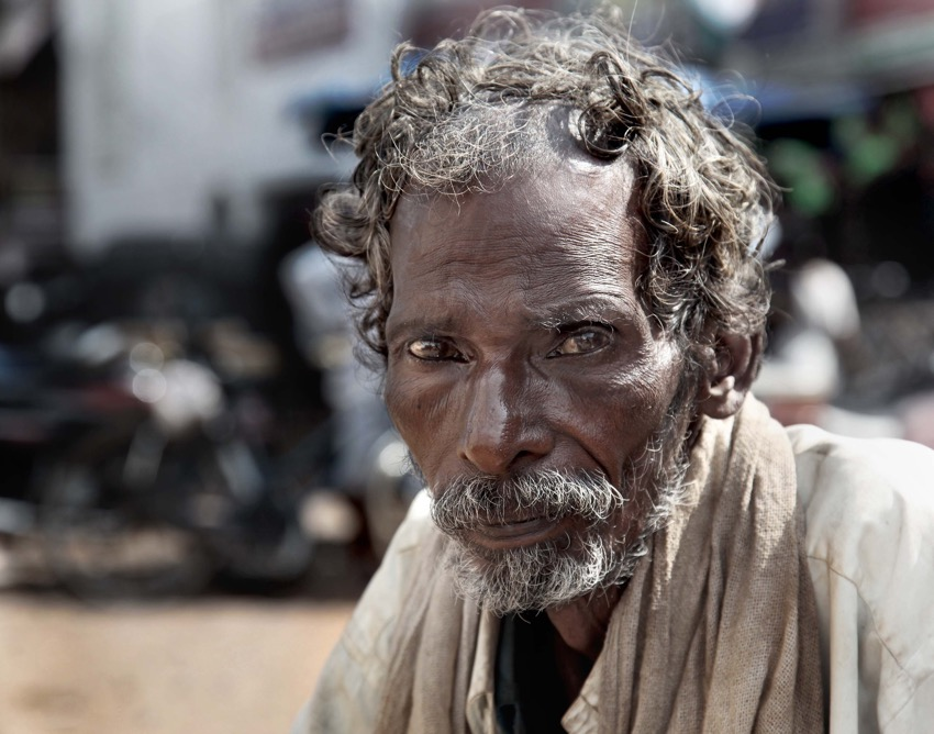 homeless indian man
