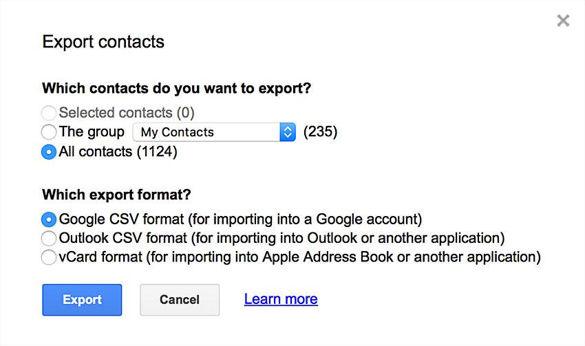 exporting google
