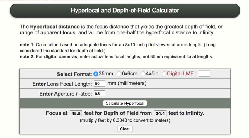 Autofocus is Overrated: How to Hyperfocal Focus