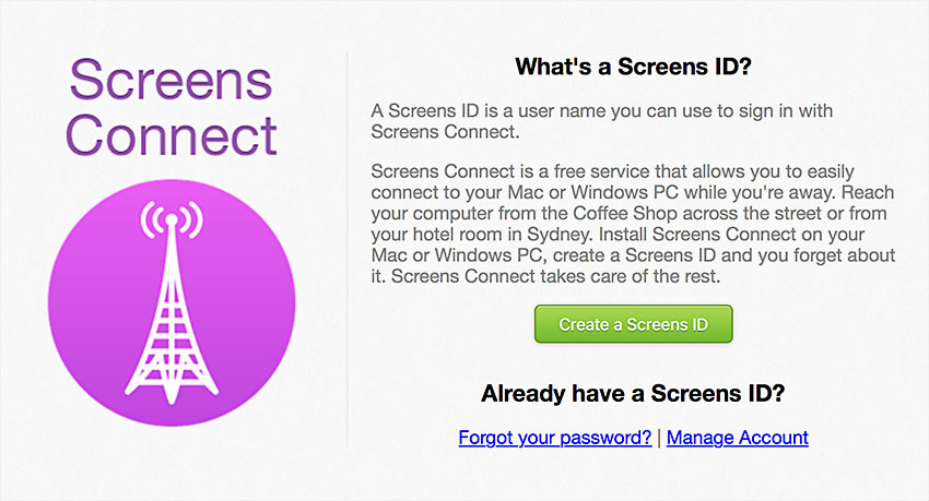 screens id