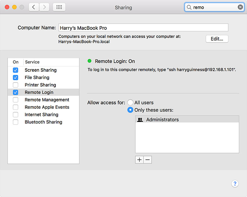 Accessing a Mac from an iOS Device Using Screens