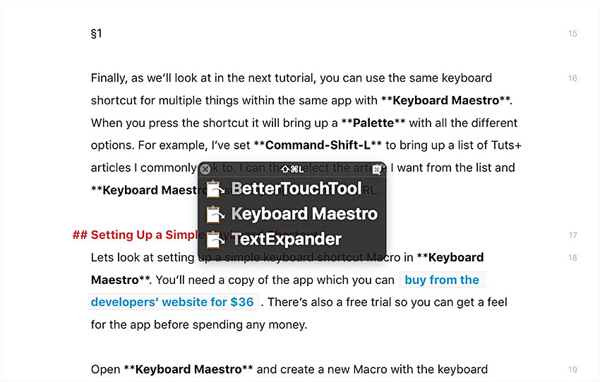 Using Keyboard Maestro to Create Custom Keyboard Shortcuts