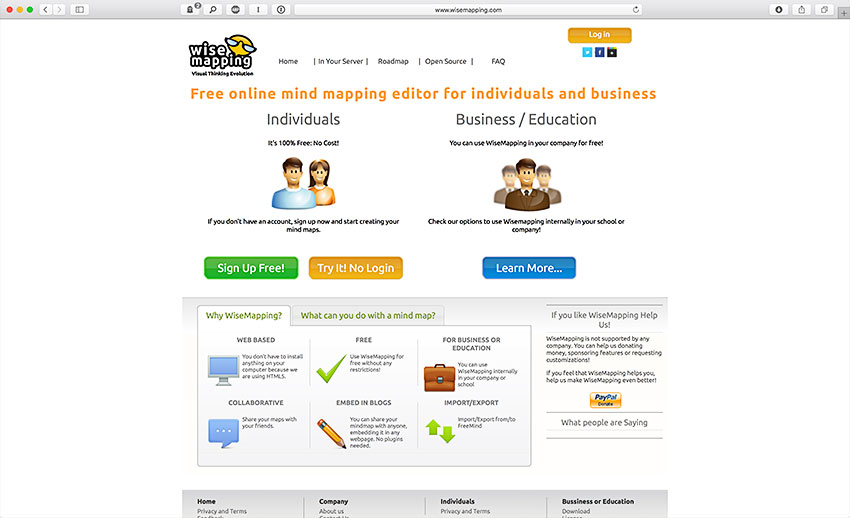 wisemapping web mind mapping brainstorm software wisemapping is a free online - Online Free Mind Map