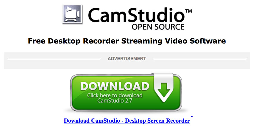 camstudio screen recording software