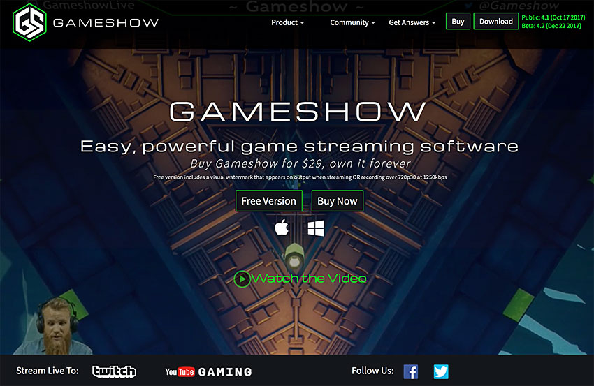 gameshow screen recording software