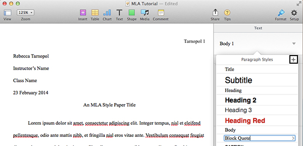 how do i type an essay in mla format