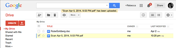 The uploaded document is converted to a Google Doc carrying the same file name