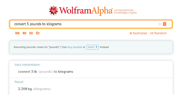 A pounds to kilograms conversion