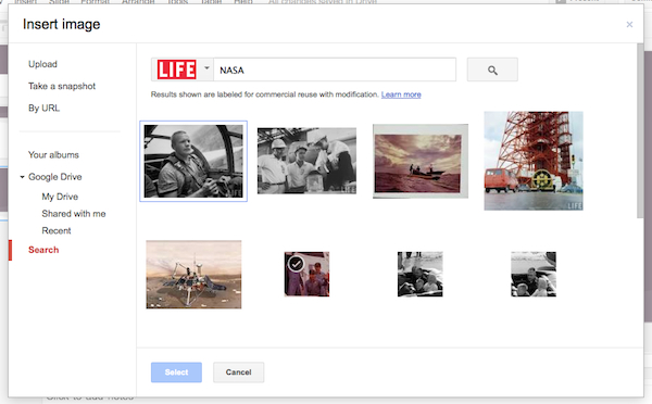 A LIFE Magazine Photo Archive search for NASA images