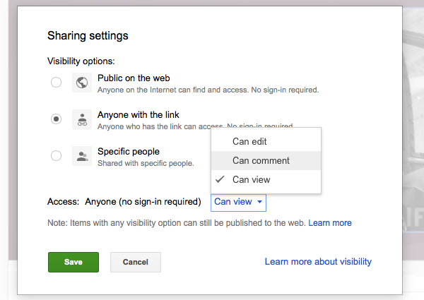 Control the privacy of the presentation by restricting editing and viewing powers