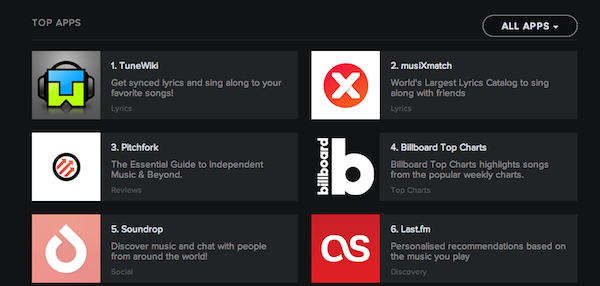 The Lastfm app can be found in App Finder