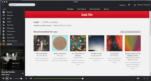 The Lastfm app makes it easy to add new suggestions into your Spotify playlists