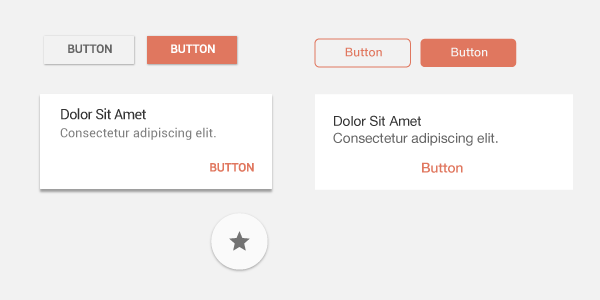 Button styles on Android and iOS