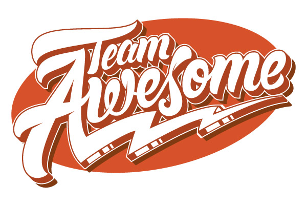 team awesome  from hand