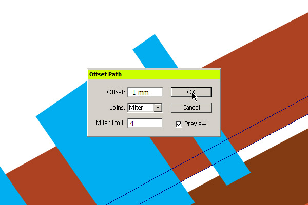 Using Offset Path to trim the highlights